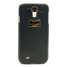 Aston Martin Racing Samsung S4 i9500 Genuine Leather Back Cover Case (Navy Blue)
