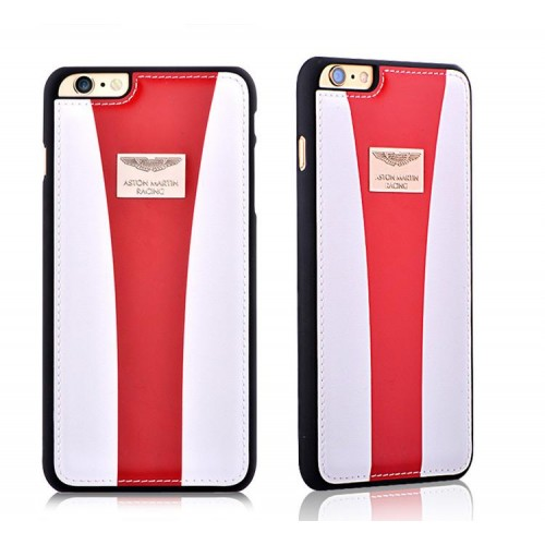 Aston Martin Racing Strap Iphone 6 6s 4 7 Genuine Leather Back Cover Case White Red
