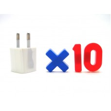 10 x USB AC Power Wall Charger Adapter (Euro) Type (Bulk Pack)