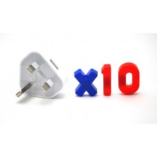 10 x USB AC Power Wall Charger Adapter (UK) Type (Bulk Pack)
