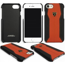 "Lamborghini Huracan-D1 Leather Back Cover Case for iPhone 7 / 8 (4.7"") Orange"