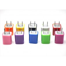 10 Colors in 1 Lot USB AC Power Wall Charger Adapter (1A) US Type (Bulk Pack)