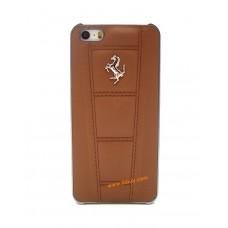 Ferrari 458 Genuine Leather Hard Case for iPhone 5 / 5s / SE - Camel