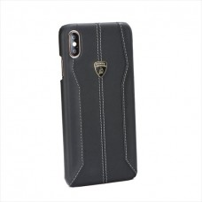 """Lamborghini Huracan-D1 Leather Back Cover Case for iPhone XR (6.1"""") Black"""